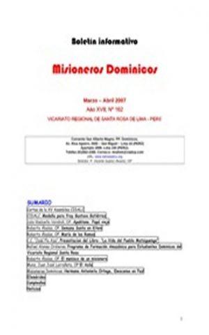 Boletín Misioneros Dominicos / 162 (2007)
