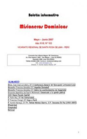 Boletín Misioneros Dominicos / 163 (2007)