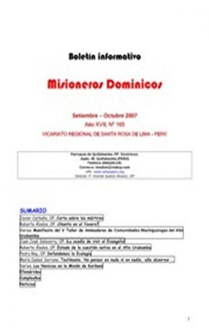 Boletín Misioneros Dominicos / 165 (2007)