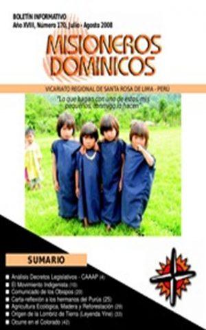 Boletín Misioneros Dominicos / 170 (2008)