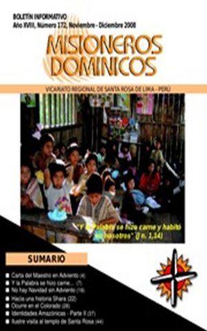 Boletín Misioneros Dominicos / 172 (2008)