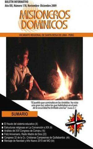 Boletín Misioneros Dominicos / 178 (2009)