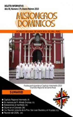 Boletín Misioneros Dominicos / 179 (2010)