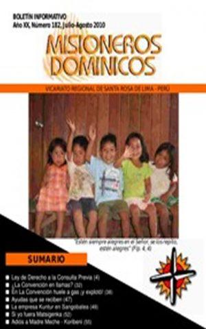 Boletín Misioneros Dominicos / 182 (2010)