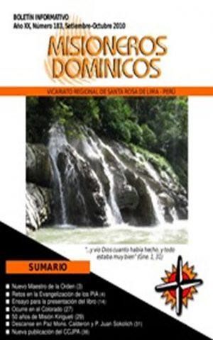 Boletín Misioneros Dominicos / 183 (2010)