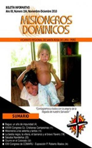 Boletín Misioneros Dominicos / 184 (2010)