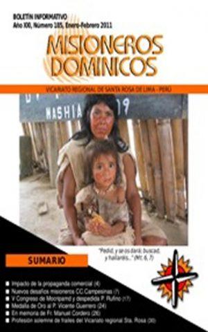 Boletín Misioneros Dominicos / 185 (2011)