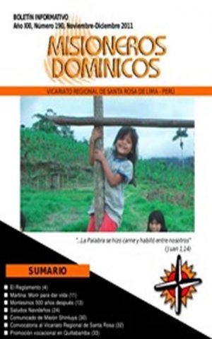 Boletín Misioneros Dominicos / 190 (2011)