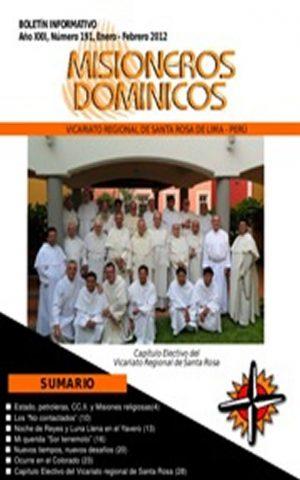 Boletín Misioneros Dominicos / 191 (2012)