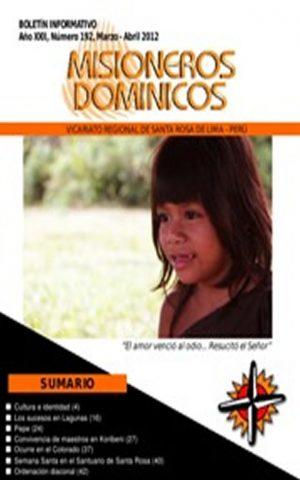 Boletín Misioneros Dominicos / 192 (2012)