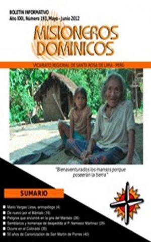 Boletín Misioneros Dominicos / 193 (2012)