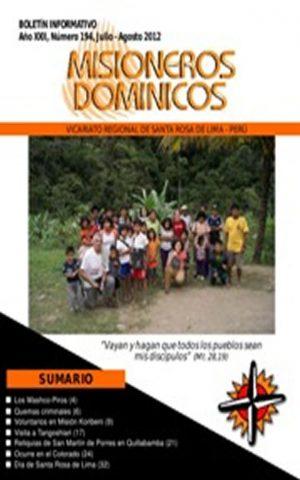 Boletín Misioneros Dominicos / 194 (2012)
