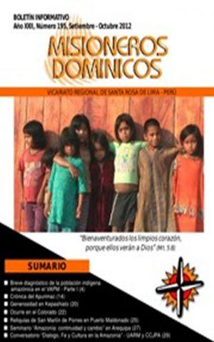 Boletín Misioneros Dominicos / 195 (2012)