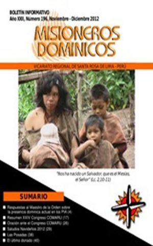 Boletín Misioneros Dominicos / 196 (2012)