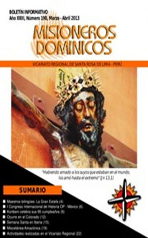 Boletín Misioneros Dominicos / 198 (2013)