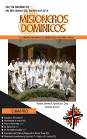 Boletín Misioneros Dominicos / 203 (2014)