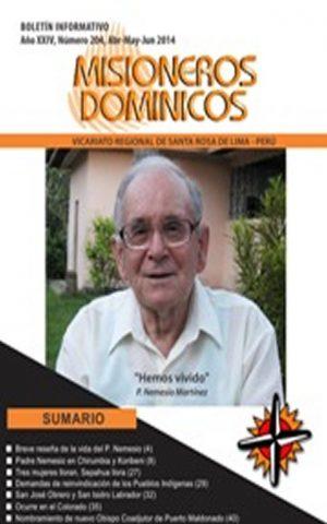 Boletín Misioneros Dominicos / 204 (2014)