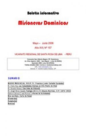 Boletín Misioneros Dominicos / 157 (2006)