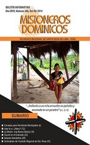 Boletín Misioneros Dominicos / 206 (2014)