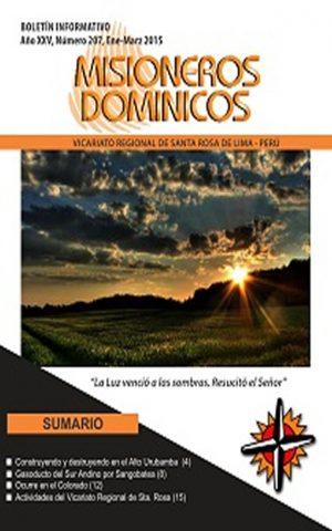 Boletín Misioneros Dominicos / 207 (2015)