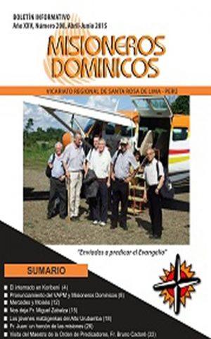 Boletín Misioneros Dominicos / 208 (2015)