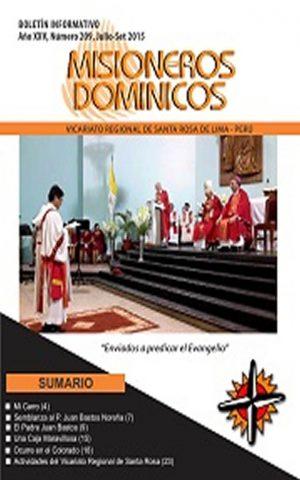 Boletín Misioneros Dominicos / 209 (2015)