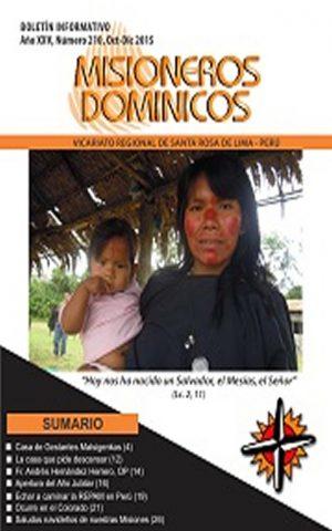 Boletín Misioneros Dominicos / 210 (2015)