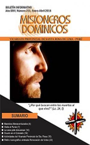 Boletín Misioneros Dominicos / 211 (2016)