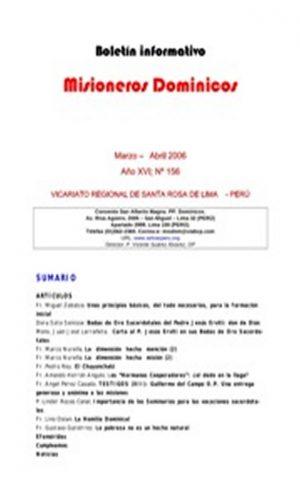 Boletín Misioneros Dominicos / 156 (2006)
