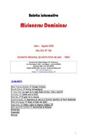 Boletín Misioneros Dominicos / 158 (2006)
