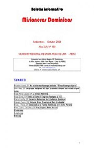 Boletín Misioneros Dominicos / 159 (2006)