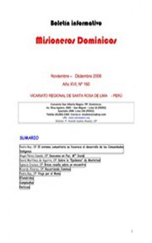 Boletín Misioneros Dominicos / 160 (2006)